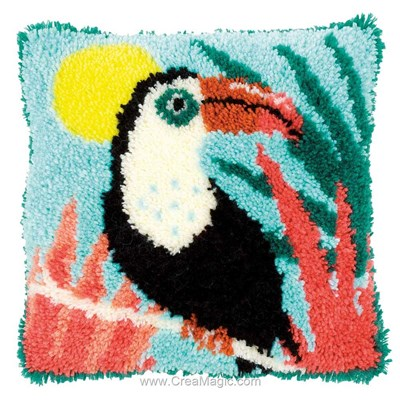 Coussin point noué Vervaco toucan