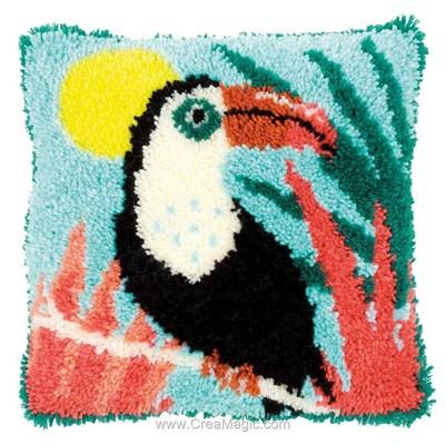Coussin point noué Vervaco toucan