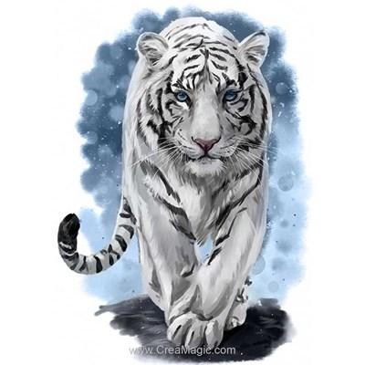 Kit broderie diamant Wizardi les pas du tigre