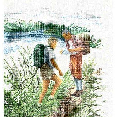 Kit Thea Gouverneur à broder au point de croix randonnée sur lin