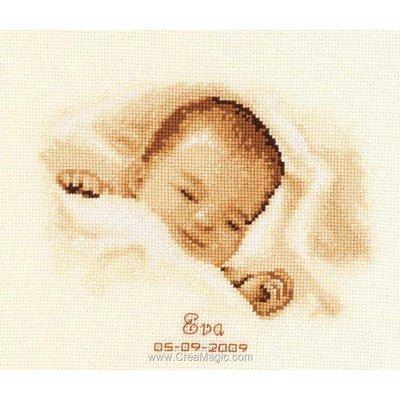 Broderie naissance bébé et tableau prénom point de croix