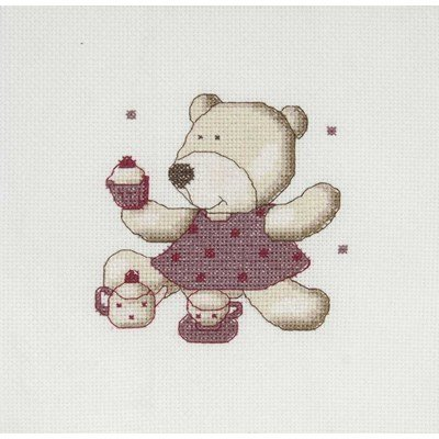 Broderie mini kit DMC gateau teddydou