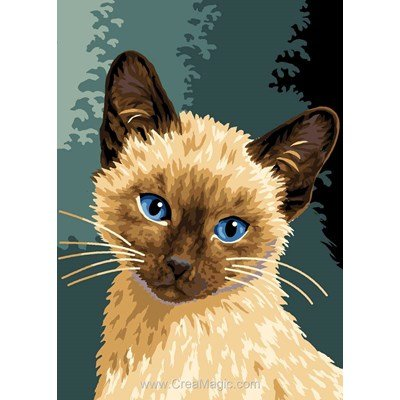 Le chat siamois canevas - Luc Création