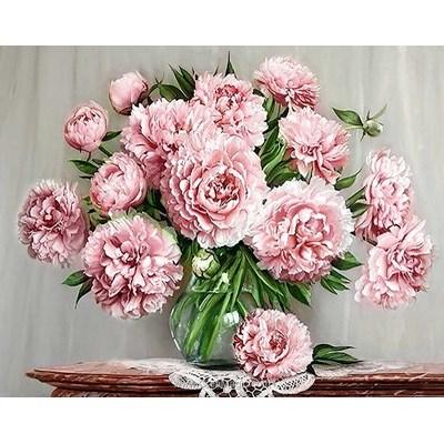 Kit broderie diamant bouquet de pivoines du jardin - Collection d'art