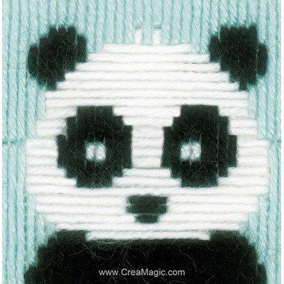Canevas point lance petit panda black-white - Vervaco