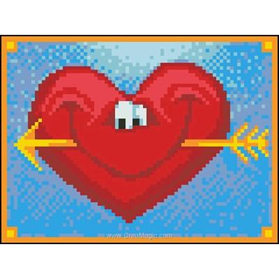 Kit broderie diamant Diamond Painting happy heart