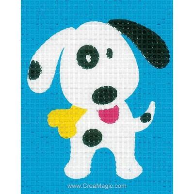 Kit canevas Vervaco pour enfant chien noir et blanc