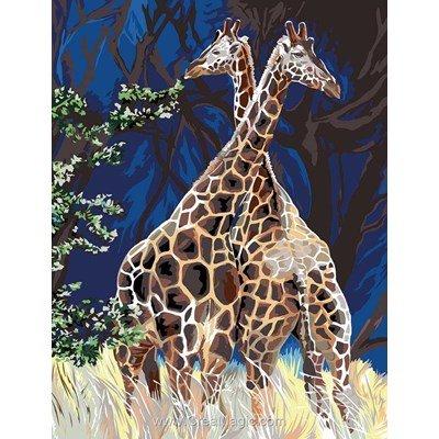 Les girafes croisées canevas - Margot