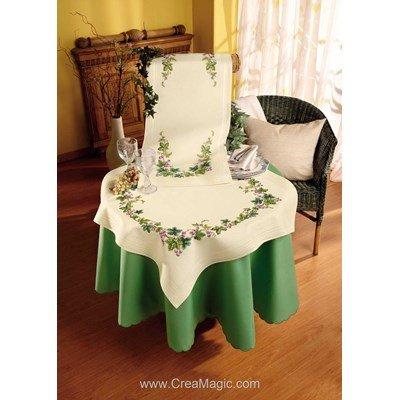 Kit nappe raisins en broderie traditionnelle - Vervaco 2290-90362-A