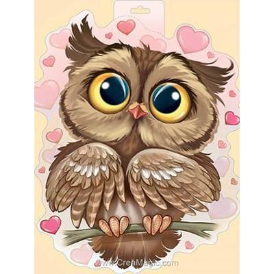 Kit broderie diamant owl in love - Wizardi