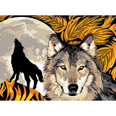 Canevas Luc Création cri de loup