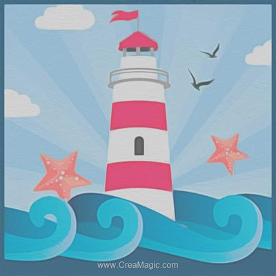 Kit broderie diamant star lighthouse de Diamond Painting