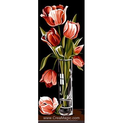 Canevas tulipes en vase - SEG
