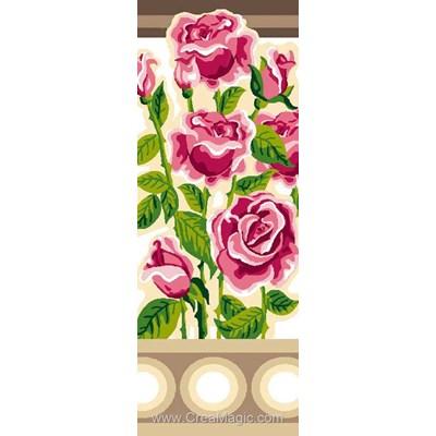 Les roses au balcon canevas de Luc Création