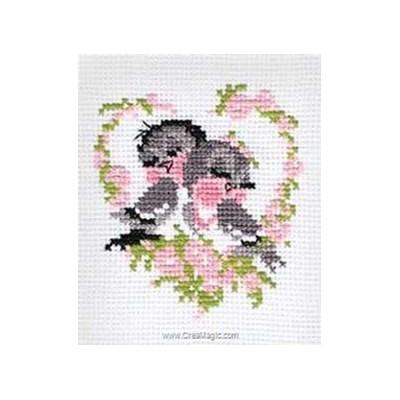 Mini kit de point de croix oiseaux du printemps - RIOLIS
