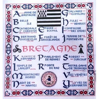 Modèle au point de croix abc bretagne - Philomene