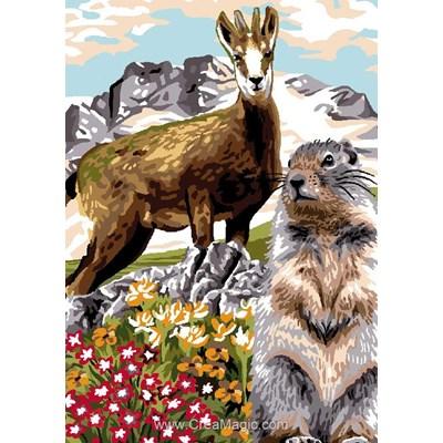 Luc Création canevas marmotte et bouquetin