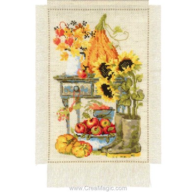 Broderie de RIOLIS au point de croix le jardin d'automne