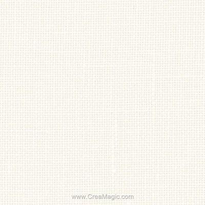 Toile lin belfast 12.6 fils blanc cassé (101) à broder - Zweigart