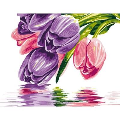 Canevas les tulipes à fleur d'eau de Luc Création