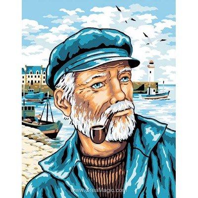 L'homme de la mer canevas - Luc Création
