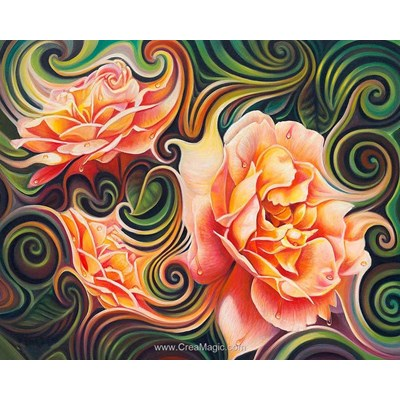 Kit broderie diamant rose abstraction - Diamond Painting