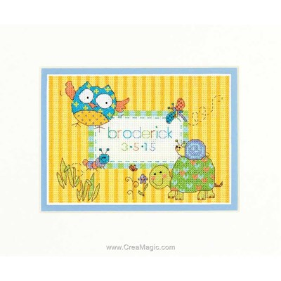 Broderie naissance woodland creature - Dimensions