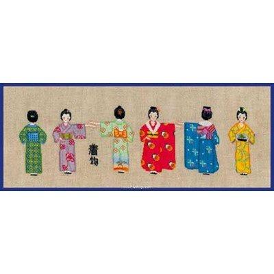 Kit broderie point compté kimonos - Le Bonheur Des Dames