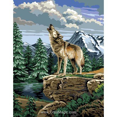 Canevas le loup hurlant - Luc Création