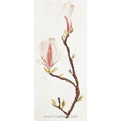 Modèle Thea Gouverneur au point de croix magnolia sur aida