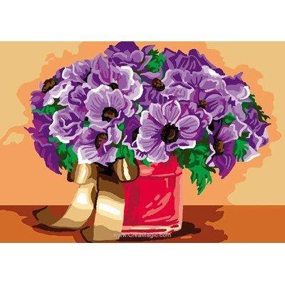 Luc Création canevas fleurs en pot