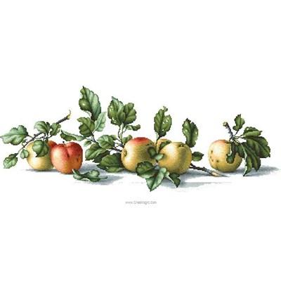 Pommes croquantes tableau point de croix - Luca-S