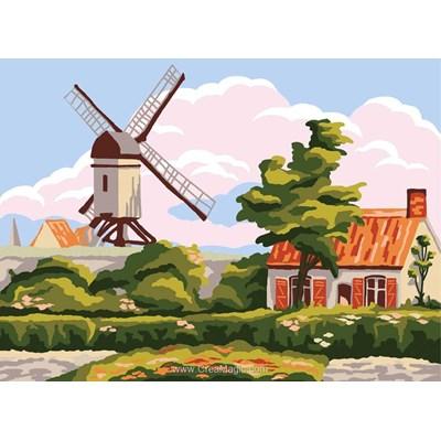 Canevas les pâles du moulin de Collection d'art