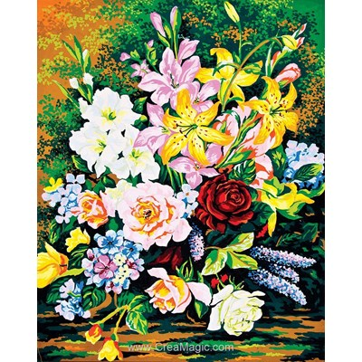 Canevas Collection d'art bouquet de grandes fleurs