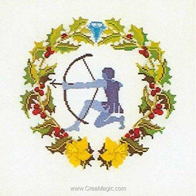 Point de croix sagitaire sur lin - Thea Gouverneur