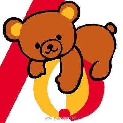Kit canevas Luc Création pour enfant ours et ballon