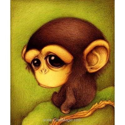 Broderie diamant monkey - Diamond Painting