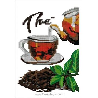 Mini point de croix en kit Luc Création thé