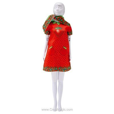 Couture set twiggy strawberry DRESS YOUR DOLL