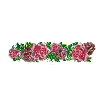 Broderie au point compté les roses - Luc Création