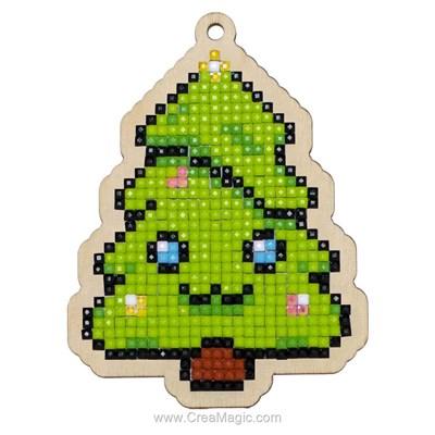 Broderie diamant christmas tree - noël de Wizardi