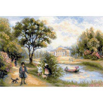 Kit RIOLIS à broder au point de croix une promenade dans le parc