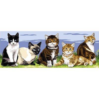 Les 5 chatons canevas chez Margot