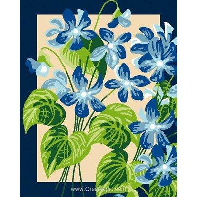 Kit canevas avec fils violettes bleues de Luc Création