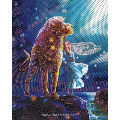 Kit broderie diamant lion constellation de Diamond Painting