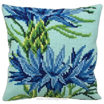 Kit coussin point de croix bleuet de Collection d'art