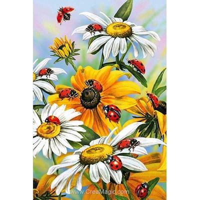 Kit broderie diamant sun flowers de Diamond Painting