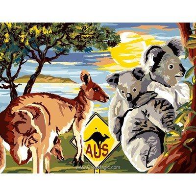 Les animaux d'australie canevas chez Luc Création