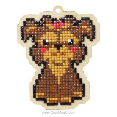 Broderie diamant dog lady - Wizardi