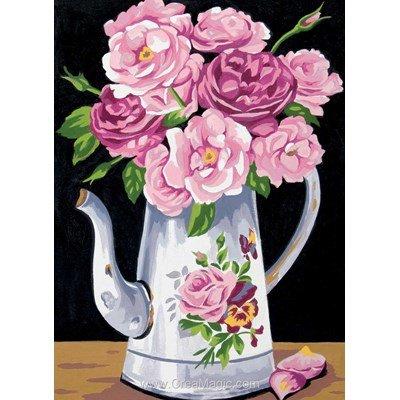 Canevas Margot le pichet aux roses
